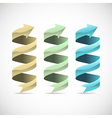 Set of ad ribbon 360 wrapped around own axis vector image