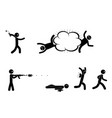 terrorists with bomb and machine gun terrorist vector image