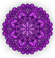 violet floral ornament circular pattern vector image