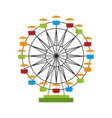 wheel ferris fair attraction icon vector image