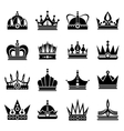 Silhouettes of black crowns vector image