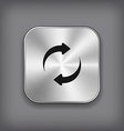 Refreshment - media player icon - metal app vector image