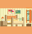 flat design of room interior vector image