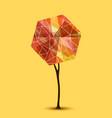 abstract tree geometric design vector image