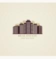 Icon real estate urban modern buildings vector image