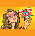 beautiful hot sale woman vector image