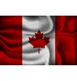 Crumpled flag of Canada on a light background vector image