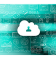 Cloud Computing concept with infographics sketch vector image vector image