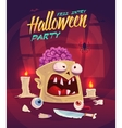 Horror set Halloween poster background card vector image