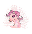 beautiful pony vector image