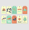 camping tags and labels freehand style picnic vector image