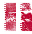 Flag of Bahrain with old texture vector image