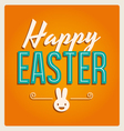 happy easter cards font vintage retro and ornament vector image