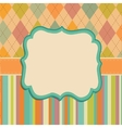 Invitation Card Background Border Frame Patterns vector image