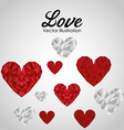 love card design vector image