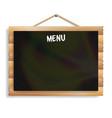menu board cafe or restaurant menu bulletin black vector image