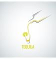 tequila shot bottle glass menu background vector image