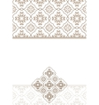 Vintage invitation card with beige ornament vector image