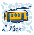 Colorful of traditional Lisbon tram vector image vector image