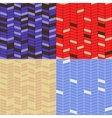 set of zigzag patterns vector image vector image