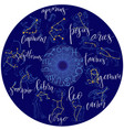 zodiacal circle with astrology signs vector image