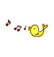 A singing bird vector image
