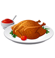 grilled chicken vector image vector image