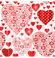 Grungy seamless valentine pattern vector image vector image