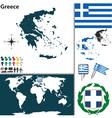 Greece map vector image vector image