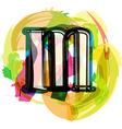 Artistic Font - Letter m vector image