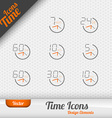 Time Icons vector image vector image
