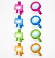 magnifying glass and canvas vector image