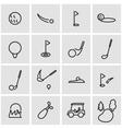 line golf icon set vector image vector image