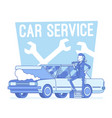 car service center lineart concept vector image