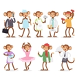 Cartoon monkey people character vector image