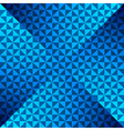 creative blue triangle pattern background vector image