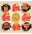 Fast food and BBQ Grill elements vector image