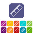 film strip icons set vector image
