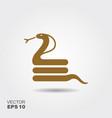 flat cobra icon vector image