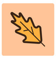flat color leaf icon vector image