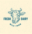 fresh dairy milk farm abstract sign symbol vector image