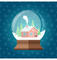 Magic Christmas snow globe Glass snowglobe gift vector image