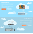 online services vector image