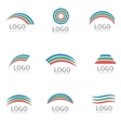 Rainbow logo template vector image