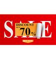 Sale Design for shop vector image