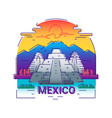 mexico - modern line travel vector image