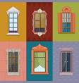 colorful windows flat collection vector image