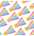 Shooting star pattern background vector image