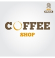 Vintage logo for coffee shop cafe and restaurant vector image