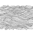 hand drawn outline abstract ornamental vector image